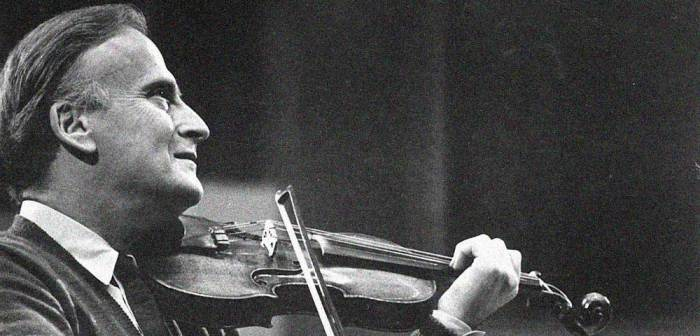Yehudi Menuhin - a legend in rehearsal this week.