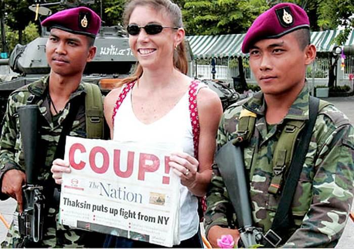Coup d'état as tourist attraction.