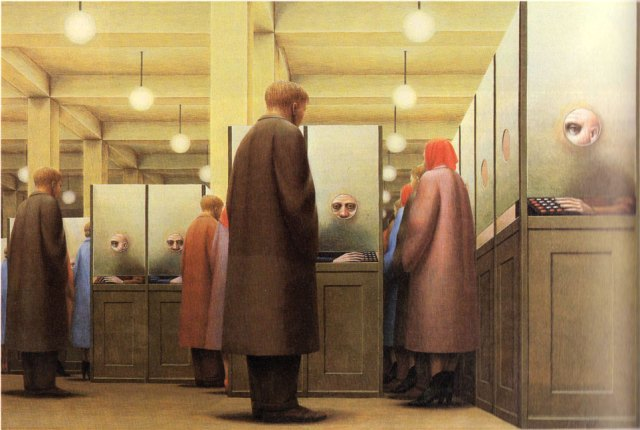As George Tooker saw it in 1964 - In many ways - spot-on.