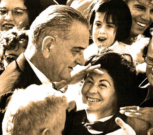 President Johnson - Pressing the flesh was his metier.