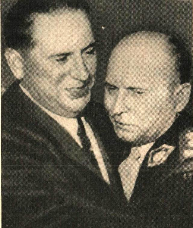 Juan Peron and Gen. Franklin Lucero - Up to something, but what . . .