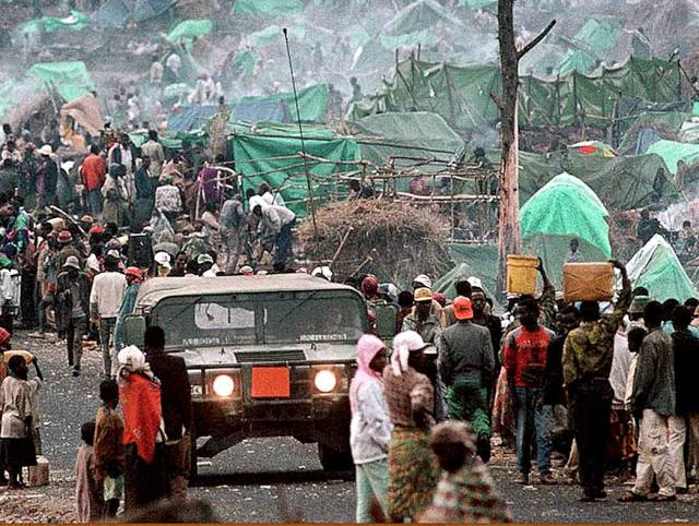Rwandan Refugee camp - the question was whether it was too little, too late or not.