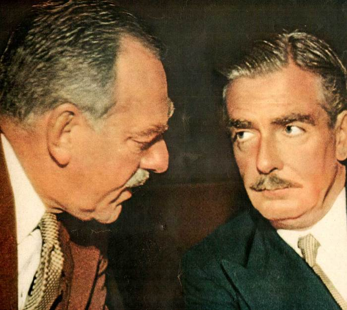 Anthony Eden with U.S. Secretary of State Dean Acheson - Britain in the Post-War/Cold War world.