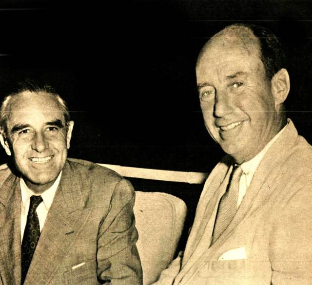 Adlai Stevenson (r) and Governor Averell Harriman(l) - 1956 was a completely different time.