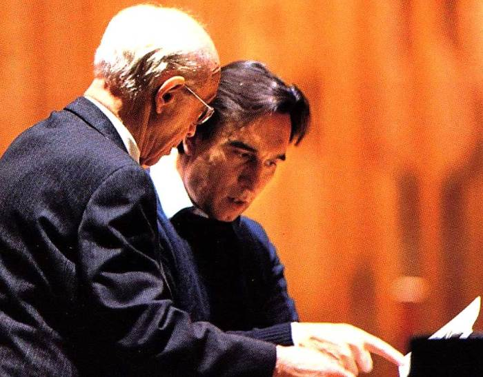 Rudolf Serkin with Claudio Abbado - kicking a few notes around.
