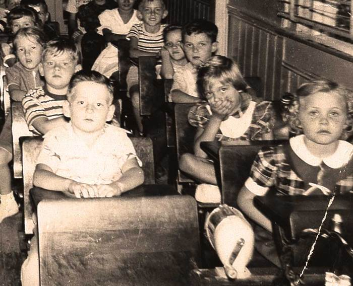 The perfect storm - post-war baby boom, exploding classrooms, the Russians were ahead of us in education.