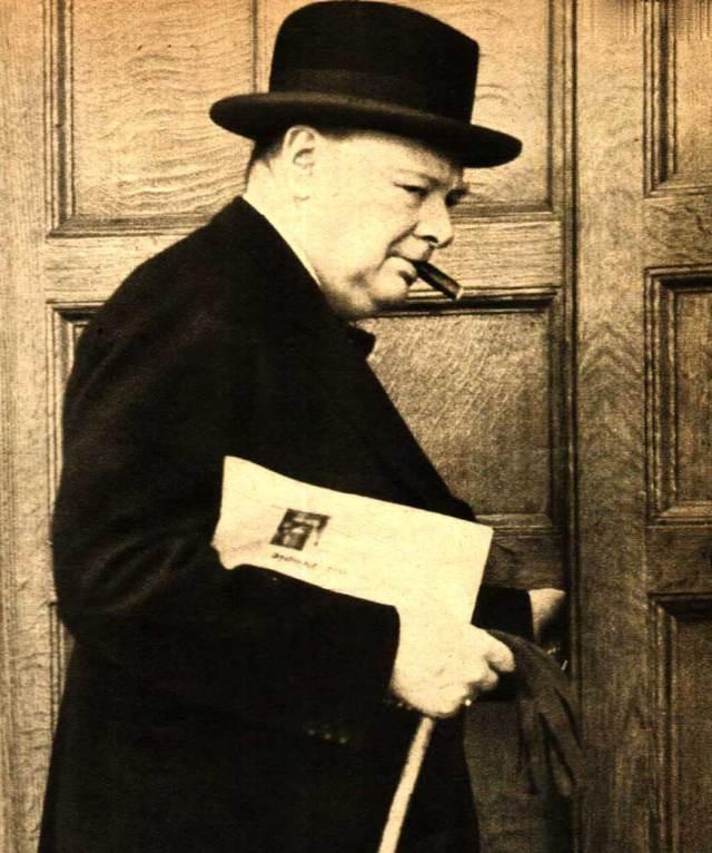 Sir Winston Churchill - guiding Britain though the darkest days of World War 2.