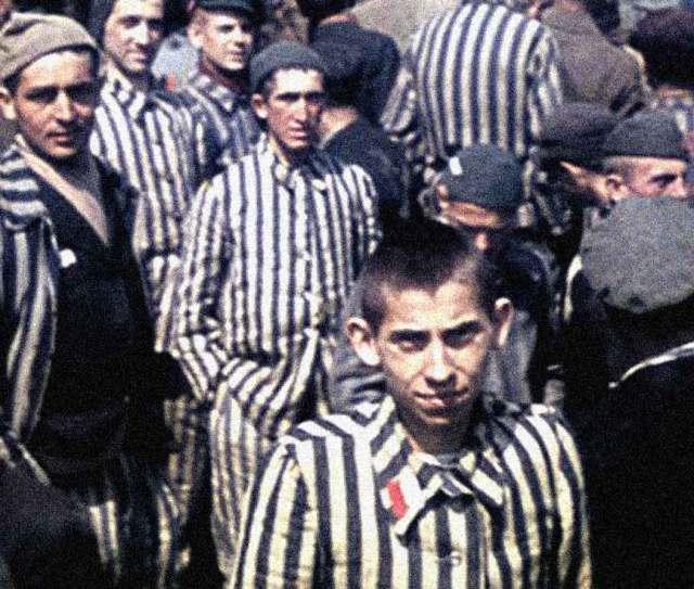 Dachau - amid optimism; horror.