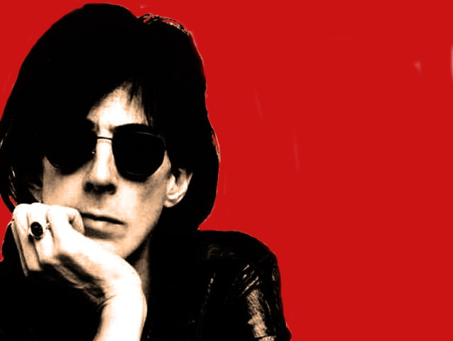 With the inimitable Ric Ocasek.