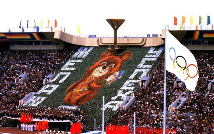 Closing ceremonies - Moscow Olympics 1980 -  Sports as politics.