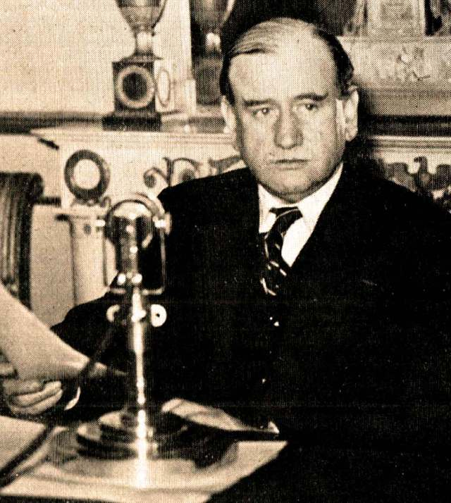 Prime Minister Edouard Daladier - A pep talk in time of war.