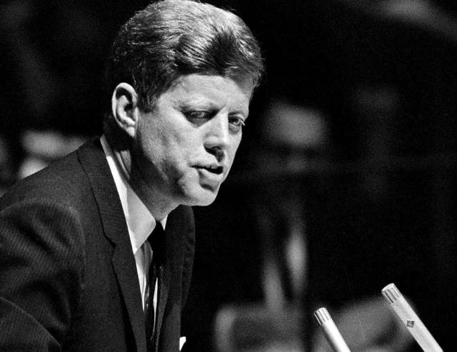 JFK - the last time he would address the United Nations.