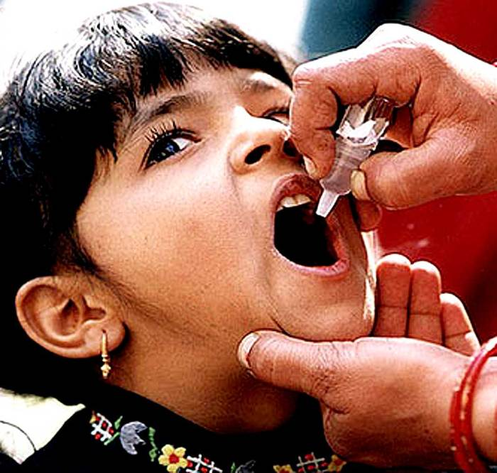 The good news - Polio was eradicated from Asia.