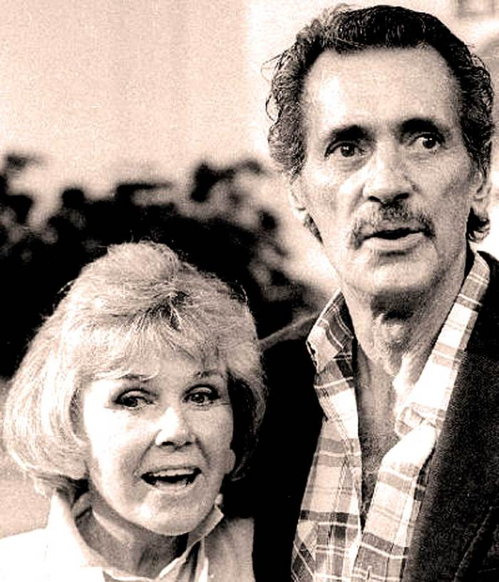 Rock Hudson with frequent co-star Doris Day. The disclosure was palpable. The death announcement; sobering.