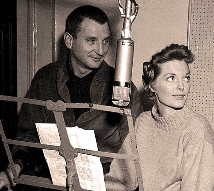 Julie London with Bobby Troup - adding sultry to the proceedings.