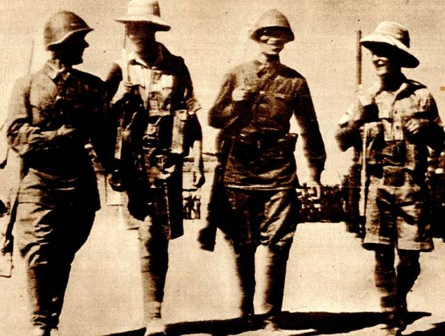 Russian and British Troops patrolling Tehran - August 1941