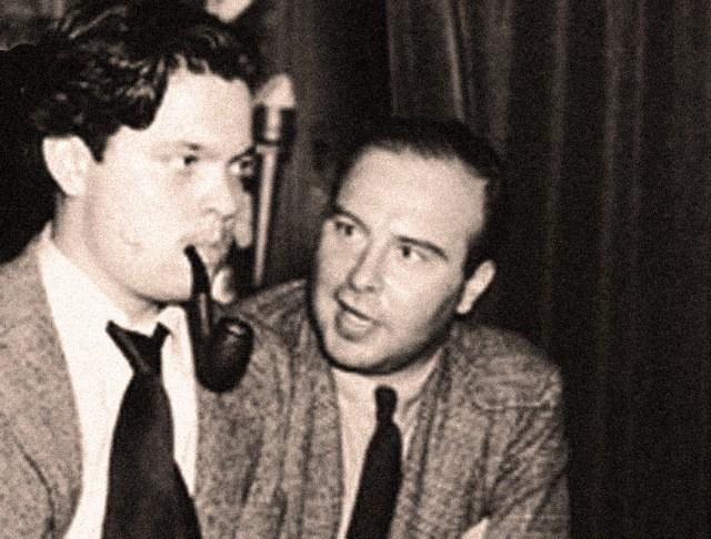 John Houseman (R) with Orson Welles (L)