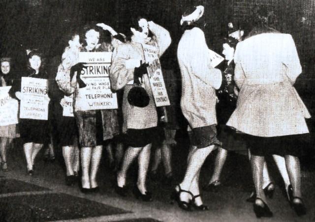 Telephone Operators on Strike- April 1947