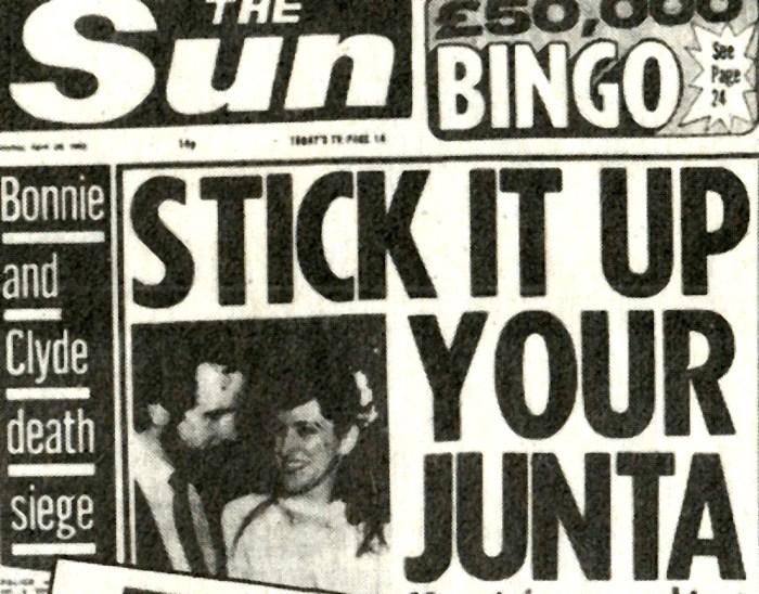 Falklands War -UK Newspaper Headines