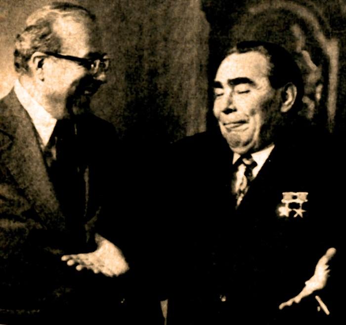 Schultz and Brezhnev