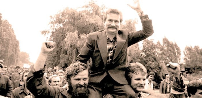 Lech Walesa - Solidarity in Warsaw - 1980