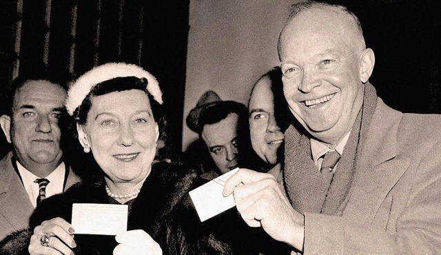 President Eisenhower - And First Lady Mamie - 1956