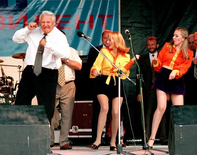 Boris Yeltsin - campaigning