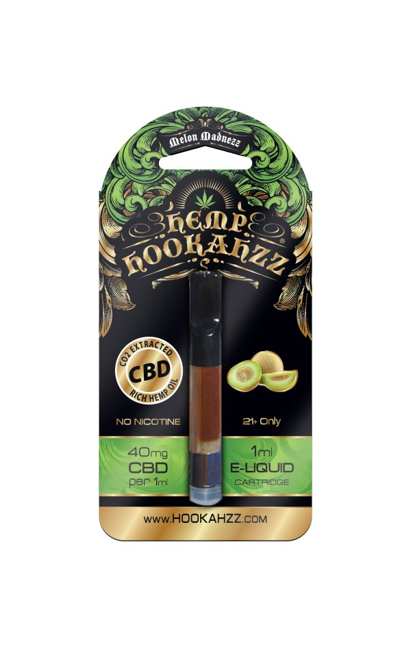 Hookahzz 40mg CBD Melon Madnezz Front updated PRINT v14 01
