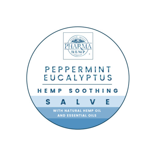 PHC Salve   Balm 1oz Peppermint Eucalyptus Label Top