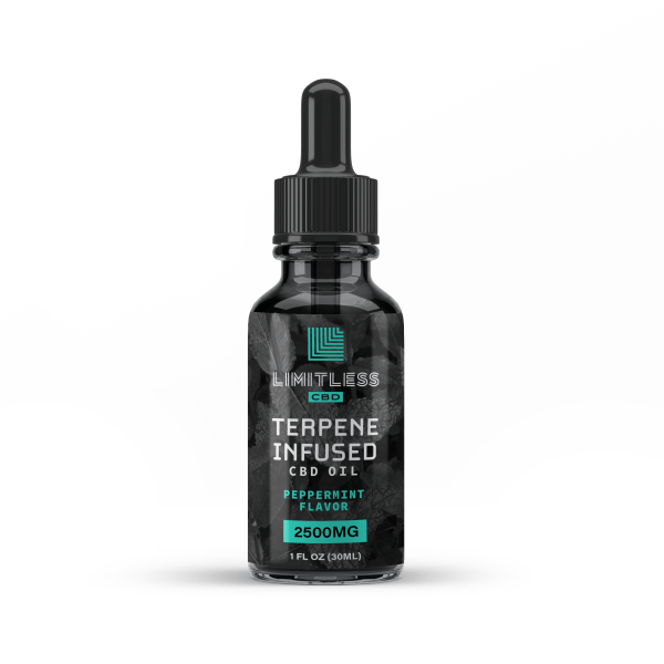 Limitless CBD Terpene Infused Peppermint Oil 2500 mg Front View