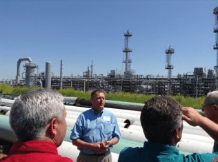 Several tours were given to attendees discussing how the new plant can process 20,000 barrels of Bakken crude oil daily to produce 7,000 barrels of diesel fuel as well as other hydrocarbon products.