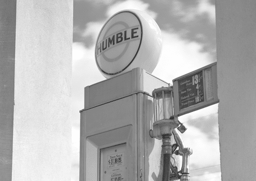 Humble Oil Gas Pump