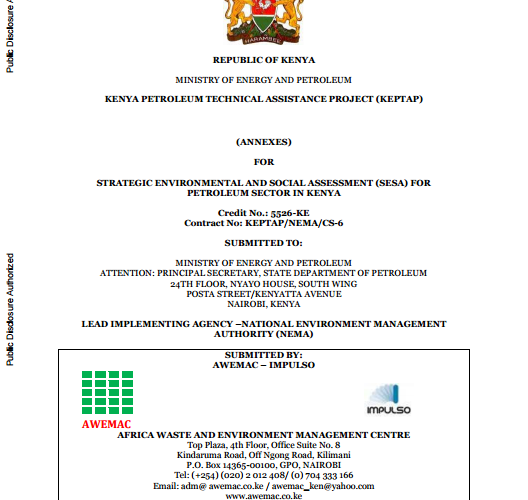 Report Evaluates Challenges in Kenya's Nascent Upstream Sector