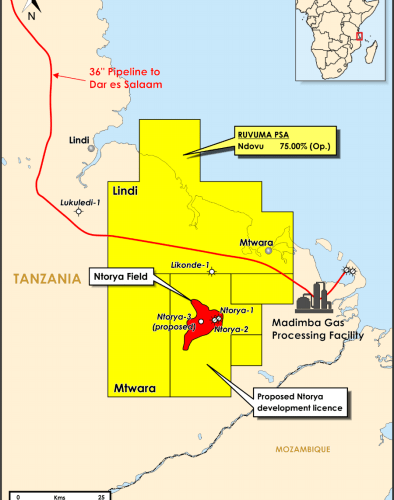 Ntorya Appraisal Area Gas Resources Estimated At 1.3 TCF