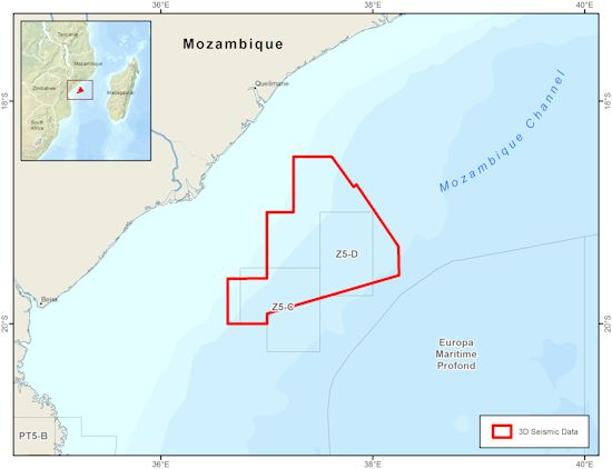Fast-Track PSTM Data from CGG's Mozambique  Multi-Client Survey Out