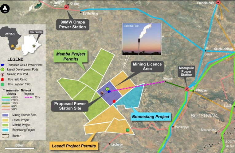 BOTSWANA: Tlou Energy Provides Update on Funding for Development of the Lesedi power project