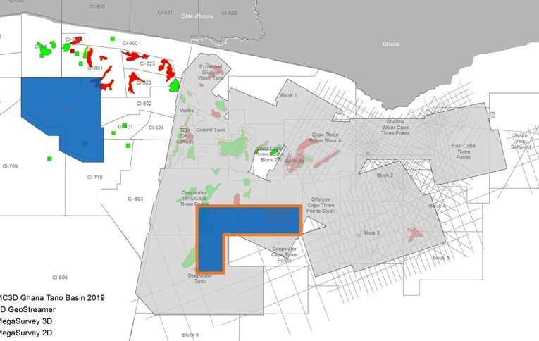 GHANA: New PGS MultiClient for Tano Basin Now Available