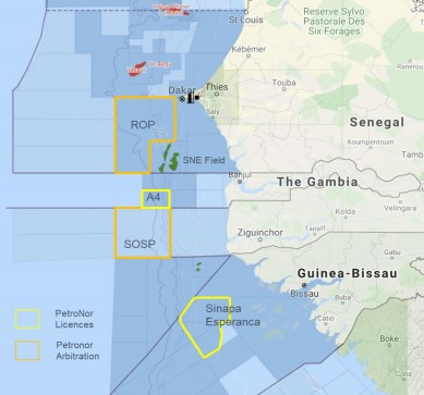 PetroNor Purchases SPE Guinea Bissau AB