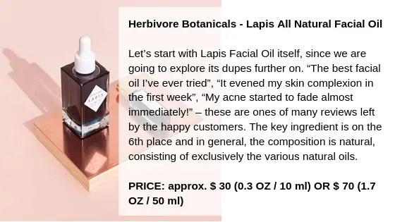 Herbivore Botanicals - Lapis All Natural Facial Oil