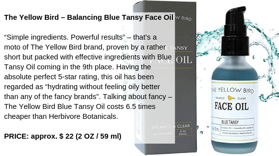 The Yellow Bird – Balancing Blue Tansy Face Oil