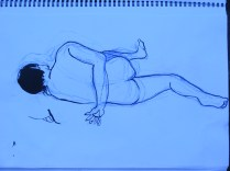 Turning one of the poses into a purely linear form akin to the linear forms on traditional tapa.