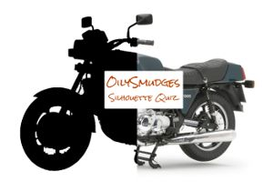 Semi silhouette image of a motorcycle for promoting the Silhouette Quiz