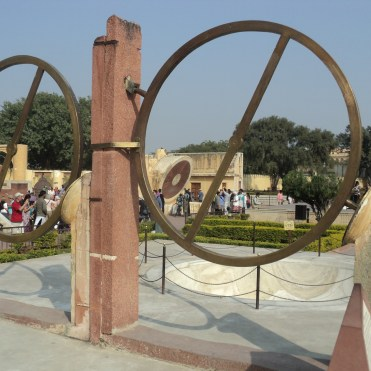 Life-size timekeepers at Jantar Mantar