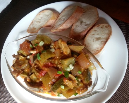 Ratatouille with bread