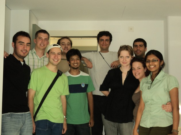 With the hosts & other interns