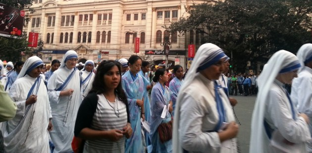 The 'sisters' at the annual procession