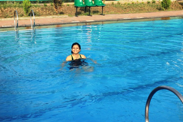 There's nothing like a relaxing swim to end a power-packed trip!
