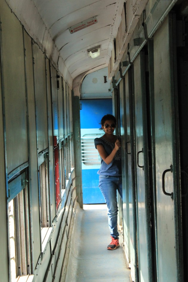 It is not always crowded on Indian trains