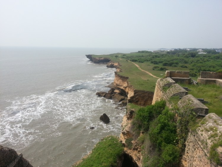 The Arabian Sea looks mesmerizing from Diu Fort