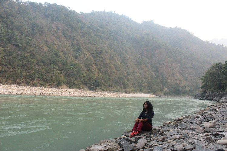 I indulge in some self reflection by the Ganga